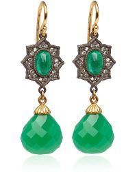 Arman Sarkisyan - Emerald and Chrysophrase Drop Earrings - Lyst