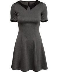 H&M Dress With A Collar - Lyst