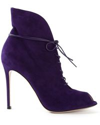 Gianvito Rossi 'Jane' Bootie - Lyst