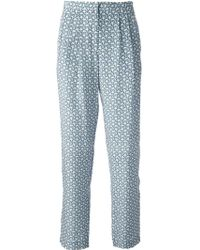 Sea Graphic Print Trousers - Lyst