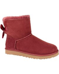 Ugg Mini Bailey Bow Suede Boots - Lyst