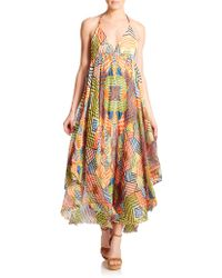 Alice + Olivia Ollie Halter Maxi Dress - Lyst