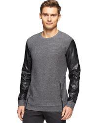 Calvin Klein Ck One Blocked Jacquard Slim-fit Sweatshirt - Lyst