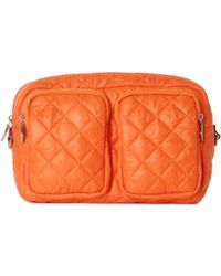 MZ Wallace - Large Savoy Cosmetic Tangerine Quilted Oxford Nylon - Lyst