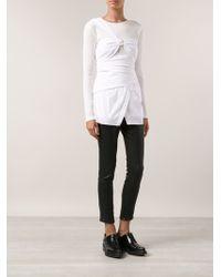 Thakoon Wrap Shirt - Lyst