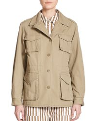Marc By Marc Jacobs Greenwich Cotton Military Jacket khaki - Lyst