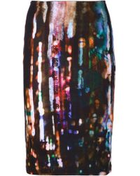 McQ by Alexander McQueen Multicolor Contour Skirt - Lyst