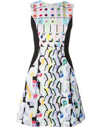 Peter Pilotto Abstract Print Dress - Lyst