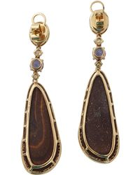 Wendy Yue - Opal And Apatite Drop Earrings - Lyst