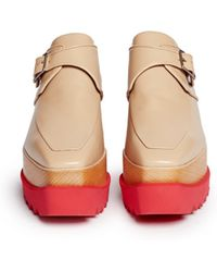 Stella McCartney Felik Faux Leather Wood Platform Derbies - Lyst