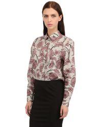 Burberry Prorsum Victorian Flower Cotton Poplin Shirt - Lyst