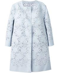 Ermanno Scervino Embroidered Floral-Lace Coat - Lyst