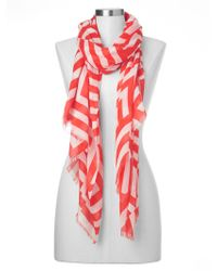Gap Mix-Stripe Scarf red - Lyst