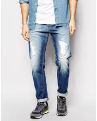 Pepe Jeans Steele Relaxed Tapered Fit Vintage Indigo Distressed - Lyst