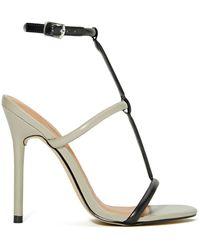 Nasty Gal Shoe Cult Flux Sandal - Grey/Black - Lyst