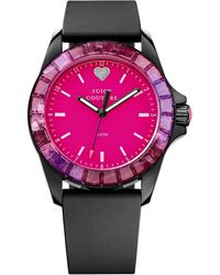 Juicy Couture Women'S Juicy Sport Black Silicone Strap Watch 40Mm 1901185 - Lyst