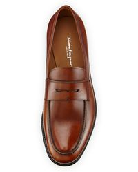 Ferragamo Rinaldo Tramezza Penny Loafer Brown - Lyst