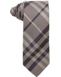 Burberry Camel And Brown Nova Check Silk Tie beige - Lyst