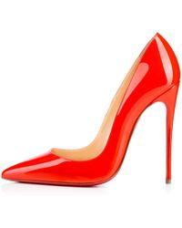 christian louboutin mens sneakers sale - Christian louboutin Yolanda Spikes Peeptoe Platform Pump Red in ...