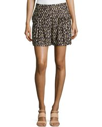 Halston Heritage Spotted Knife-pleated Silk Shorts - Lyst