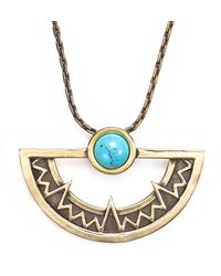Pamela Love Compass Pendant in Brass - Lyst