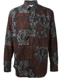 Comme Des Garçons Baroque Print Classic Shirt - Lyst