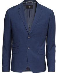 H&M Jacket Skinny Fit blue - Lyst