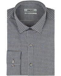 DKNY Slim Fit Plaid Dress Shirt - Lyst
