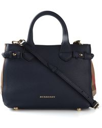 Burberry Small 'Banner' Tote Bag - Lyst