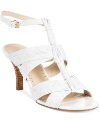 Adrienne Vittadini White Gittie Sandals - Lyst