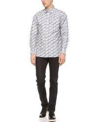 Opening Ceremony - Magpie Oxford Pocket Shirt - Lyst