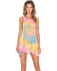 UNIF - Wren Tie-Dye Cotton Dress - Lyst