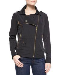 Ali Ro - Zip Front Moto Style Anorak Jacket - Lyst