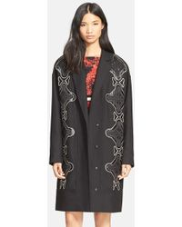 Tracy Reese - Applique Stretch Cady Coat - Lyst