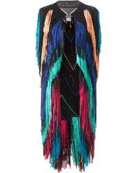 Tim Ryan Multi Colour Sleeveless Fringed Vest multicolor - Lyst