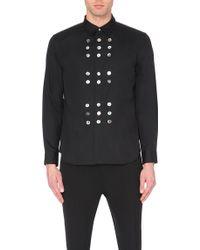 Comme des Garçons Pearlescent Button Cotton Shirt - For Men - Lyst