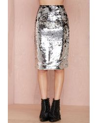 Nasty Gal Get Down Tonight Sequin Skirt - Lyst