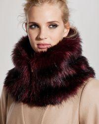 Ted Baker Arba Faux Fur Collar - Lyst