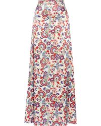 Alice By Temperley Lou Lou Floralprint Satin Maxi Skirt - Lyst