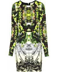 Nicole Miller Coronado Mini Dress Green - Lyst