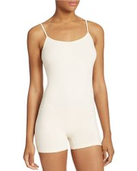 Free People White Seamless Romper - Lyst