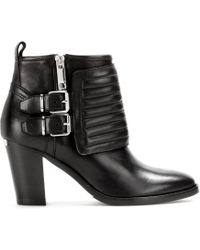Burberry Brit - Hirshel Leather Ankle Boots - Lyst