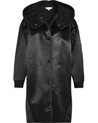 Stella McCartney Oversized Faux Shearlinglined Satintwill Coat - Lyst