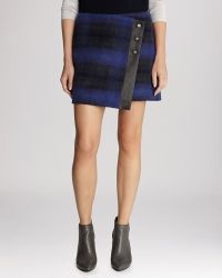 Karen Millen Skirt - Blanket Plaid Wrap - Lyst
