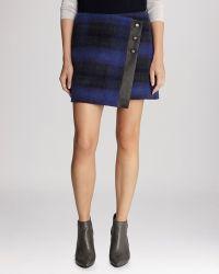 Karen Millen Skirt - Blanket Plaid Wrap - Lyst