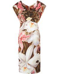 Vivienne Westwood Red Label - Multicoloured Cap Sleeve Floral Dress - Lyst