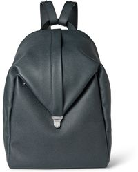 Valextra - Pebbled-Leather Backpack - Lyst