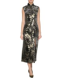 Anna Sui Shangri La Burn Out Dress - Lyst