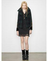 Denim & Supply Ralph Lauren Plaid Wool Pea Coat - Lyst