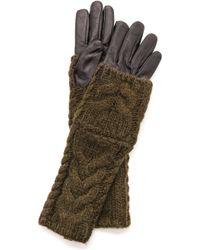 Club Monaco - Amelia Gloves - Black Olive - Lyst